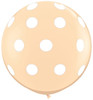 "36"" Big Polka Dots on Blush Latex Balloons"