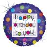 "18"" Birthday Musical Mylar Foil Balloon"