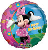 "17"" Minnie Mouse Birthday Mylar Foil Balloon"