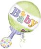 """31"""" Tiny Bundle Rattle Shape Mylar Foil Balloon"""