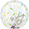"17"" Wishing You Well Mylar Foil Balloon"