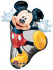 "31"" Mickey Mouse Full Body Shape Mylar Foil Balloon"