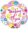 "18"" Thinking Of You Daisy Junior Shape Mylar Foil Balloon"