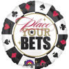 "32"" Place Your Bets (Poker Chip) Jumbo Mylar Foil Balloon"