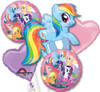 My Little Pony Birthday  Bouquet Mylar Foil Balloons