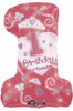 "28"" 1st Birthday Princess Girl Shape Mylar Foil Balloon"