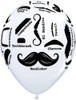 """11"""" Mustache Styles  Latex Balloons"""