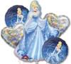Cinderella  Bouquet Mylar Foil Balloons