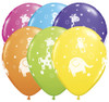"11"" Cute & Cuddly Bears Birthday Tropical Assortment Latex Balloons"