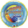 "18"" Turbo Birthday Mylar Foil Balloon"