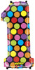 """40"""" Megaloon Mighty Bright Number 1  Mylar Foil Balloon"""