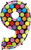"40"" Megaloon Mighty Bright Number 9  Mylar Foil Balloon"