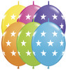 "12"" Big Stars Quick Links Tropical Assortment Latex Balloons"