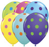 "11"" Big Polka Dots Multi-Color Assortment Balloons"