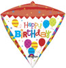 "17"" Diamondz Geometric Birthday Balloon"