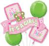 Welcome Little Girl Balloon Bouquet
