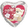 "18"" Fizzy Moon Bear Love Valentine Balloon"