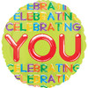 "17"" Celebrating You Foil Balloon"