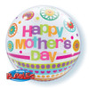 "22"" Mother's Day Dots & Patterns Bubble Balloon"