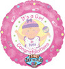 "28"" Singing It's A Girl Mylar Foil Balloon"