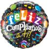 "18"" Feliz Cumpleanos A Ti Foil Balloon"