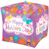 "15"" Cubez Mother's Day Flowers & Butterflies Balloon"