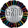 "17"" Grad You Did It! Foil Balloon"