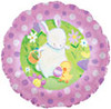 "18"" Easter Garden with Bunny Mylar Foil Balloon"