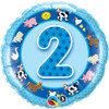 "18"" 2nd Birthday Boy - Make It Count Series Mylar Foil Balloon"
