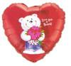 """18"""" Love You A Bunch! Mylar Foil Balloon"""