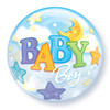 "22"" Bubble Baby Boy Moon/Stars"