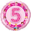 "18"" 5th Birthday - Make It Count Series Mylar Foil Balloon"