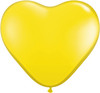 "Heart  6"" Standard Yellow Latex Balloons"