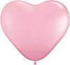 """Heart  6"""" Standard Pink Latex Balloons"""