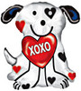 "24"" XOXO Dalmation Mylar Foil Balloon"