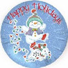 "18"" Happy Holidays Dancing Snowmen  Mylar Foil Balloon"