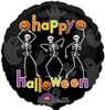 "18"" Dancing Skeletons Mylar Foil Balloon"