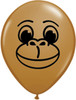 "5"" Monkey Face Latex Balloons"