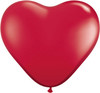 "Heart  6"" Jewel Ruby Red Latex Balloons"