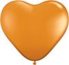 "Heart  6"" Jewel Mandarin Orange Latex Balloons"