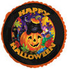 "18"" Happy Halloween Cat & Pumpkin Mylar Foil Balloon"