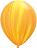 "Round 11"" Yellow Orange Rainbow Agate Latex Balloons"