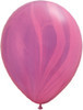 "Round 11"" Pink Violet Rainbow Agate Latex Balloons"