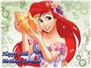 Ariel Little Mermaid Cake Edible Icing Image #1