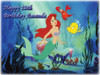 Ariel Little Mermaid Cake Edible Icing Image #3