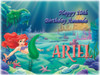 Ariel Little Mermaid Cake Edible Icing Image #4