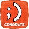 "18"" Texting Congrats Mylar Foil Balloon"