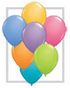 """Round  5"""" Contemporary Assortment Latex Balloons (78298) - 100 Ct"""