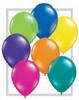 "Round 11"" Fantasy Jewel Assortment Latex Balloons - 100 Ct (78197)"
