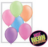 "Round 11"" Neon Assortment Latex Balloons - 100 Ct (74589)"